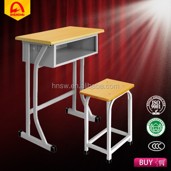 new design durable steel school students desk and chair set for sale