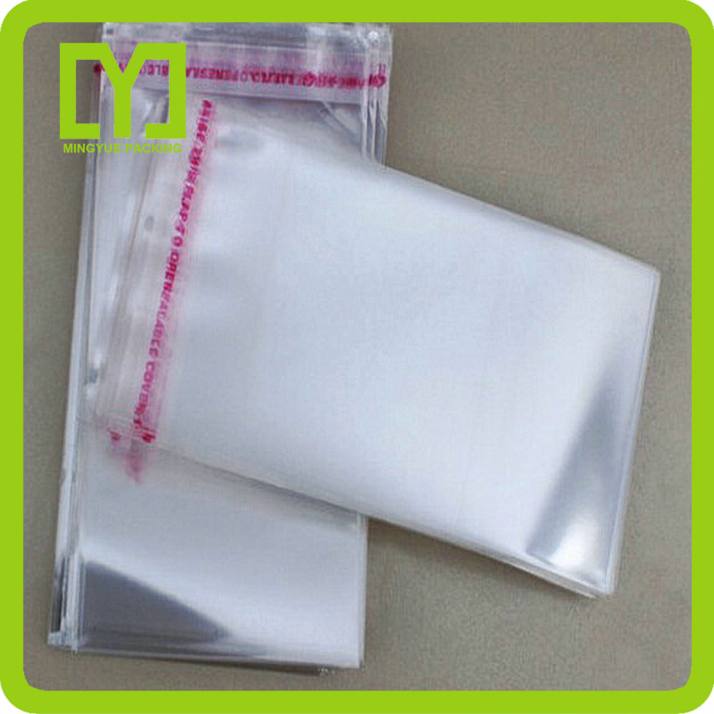 Yiwu transparent packing definition bopp cellophane opp header plastic self adhesive bag