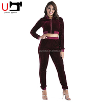 Stylish 2017 Popular Fitness Short Velour Tracksuit Women Sport wear 2 Pieces Set Tracksuits