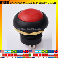 Electrical Red 5A 250VAC 10A 125VAC 12mm IP67 (ON) OFF waterproof push button switch