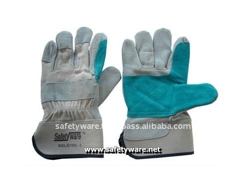 Premium Semi Split Double Palm Leather Work Gloves