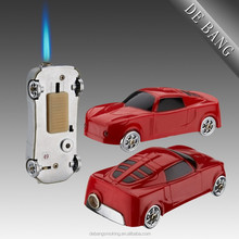 Funny Novelty Toy Car Shape Metal Butane Gas Refillable Cigarette Windproof Lighter With LED Lighter