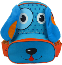 LOW MOQ wholesale customized leisure sport style lovely funny dog printed 600D polyester children school backpack