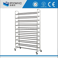 Over the door hanging high quality 50 /100 pair steel shoe rack
