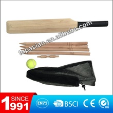 Cheap wooden cricket set with hard ball