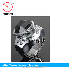2015 whole sale fashion jewelry digital finger watch ring,men finger ring watch