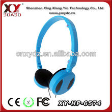 foldable bright color headset for telephone operator promotional