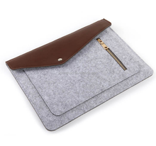 Handbags felt cheap laptop sleeve laptop bags felt laptop case with leather