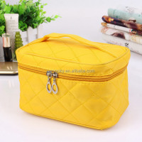 Wholesale 7 candy colors with mirror inside bulk travel qualited plain makeup bag