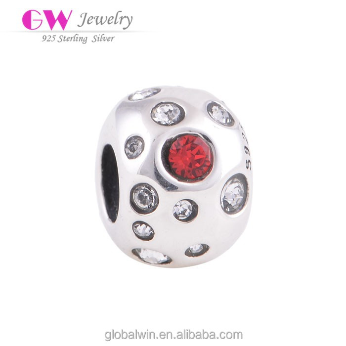 Wholesale 925 Sterling Silver For Women Charms Clear Crystal Jewelry Beads Fit European Bracelets