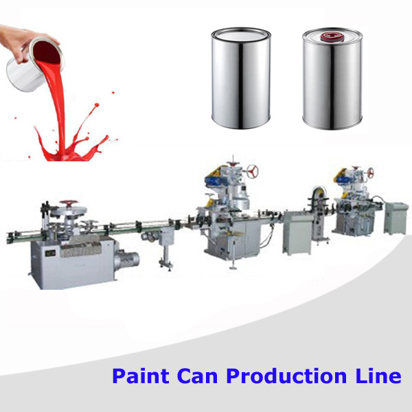 1-5L Automatic chemical paint can container box making line