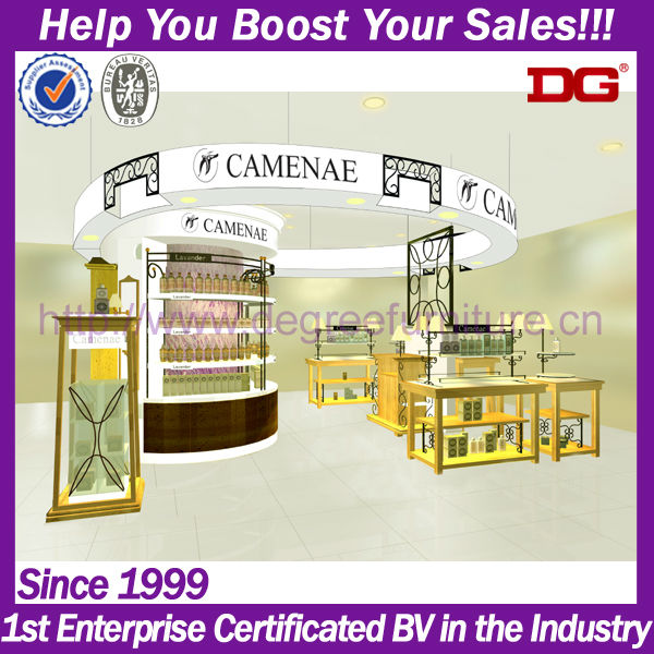 Fashion shopping mall kiosk products display stand for cosmetics (DG-TZ05)