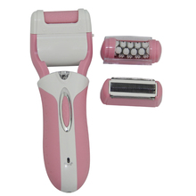 rechargeable 3 in 1 shaver remover exfoliates dead skin and safe hair removal for women Lady Shaver Wet and Dry Trimmer
