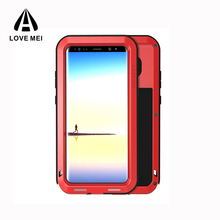 China Supplier Love Mei Metal Water proof Cell Phone Case Accessory for Samsung Galaxy Note 8 in Shenzhen
