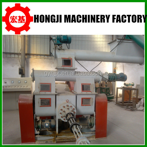 Columnar wooden pellet and briquette biomass fuel making machine