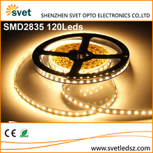 CE RoHs DC12V 2835 SMD 120Leds High CRI 95 Super Flat Led Srip Rope Tape Light