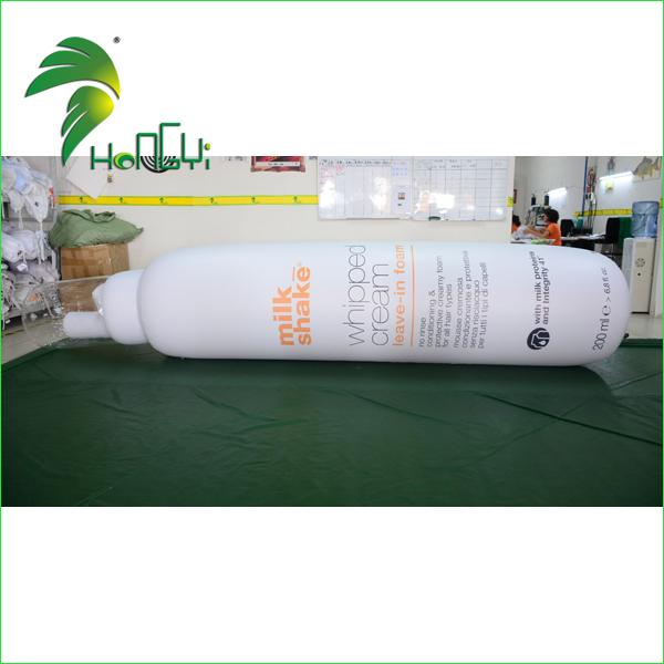 Customized Inflatable PVC Shampoo Bottle for Advertising