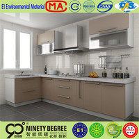 2012Popular lacquer&MDFt glass doors discount cheap red lacquer kitchen cabinets