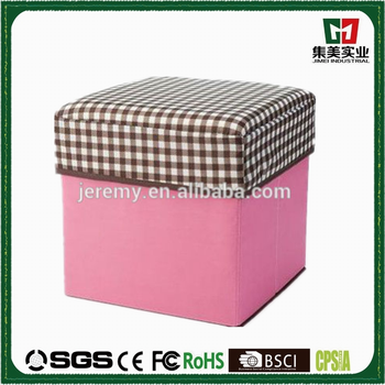 Foldable Storage FootStool fabric collapsible storage Box