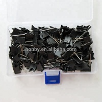 35mm Plastic steel black flag map pins for office map marking use