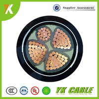 8.7/15kv cu/al conductor steel tape armored pvc xlpe insulation power cable