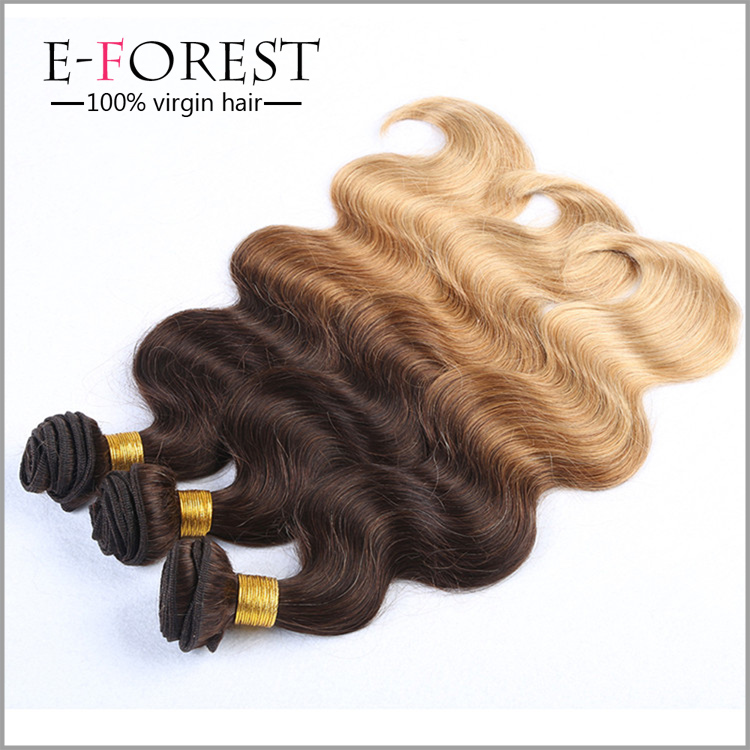 8a Grade Virgin Unprocessed Cheap Brazilian Hair 3 Bundles Body Wave Ombre Hair Virgin Brazilian Wavy Human Hair Extensions