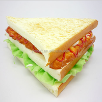 Decorative artificial bread sandwich fake food model for display