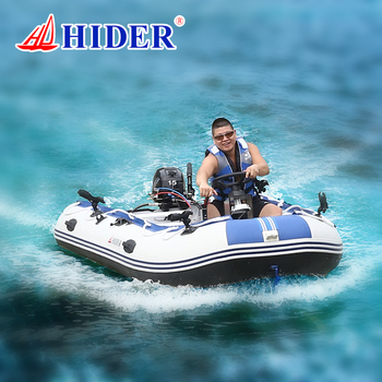 Hide strong PVC large inflatable Rubber Boat with Engine
