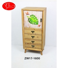 Fir Wood Custom Cosmetic Storage small wooden wall design Cabinet