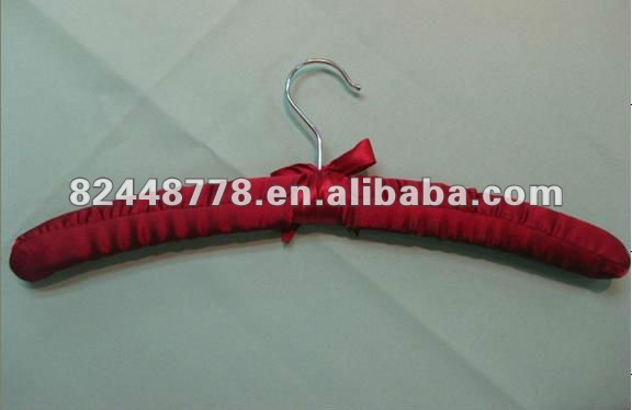 lady satin padded cloth hangers