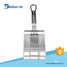 Cooking Tool Electroplated Treatment Copper&Nickel Plated Taco Shell Fry Basket