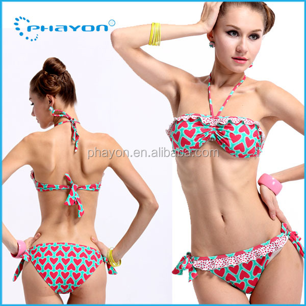 OEM&ODM attractive bikini customer new design 2014 teen micro bikini competitions