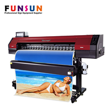 Best selling Funsunjet FS1700M 1.7m cmyk digital color printing machine for outdoor printing