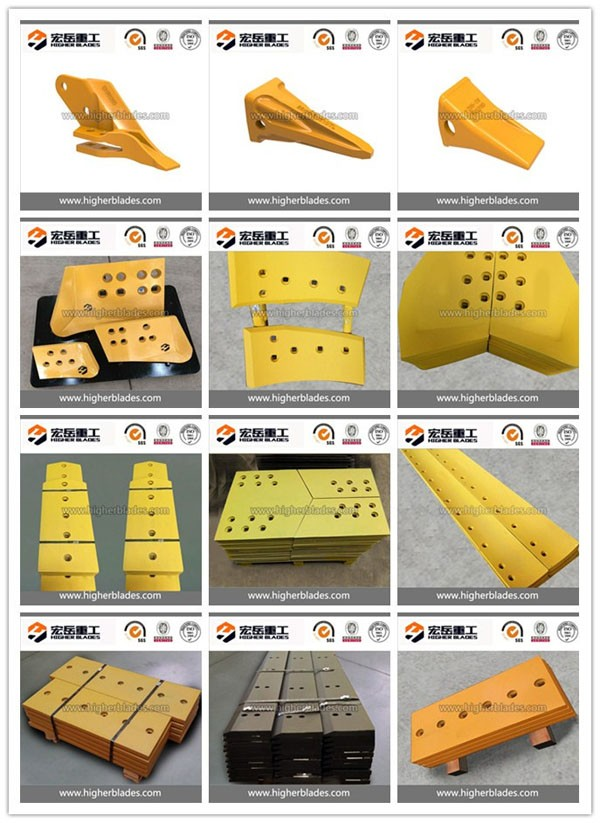 Excavator cutting edge/ bucket teeth/ side cutter spare parts