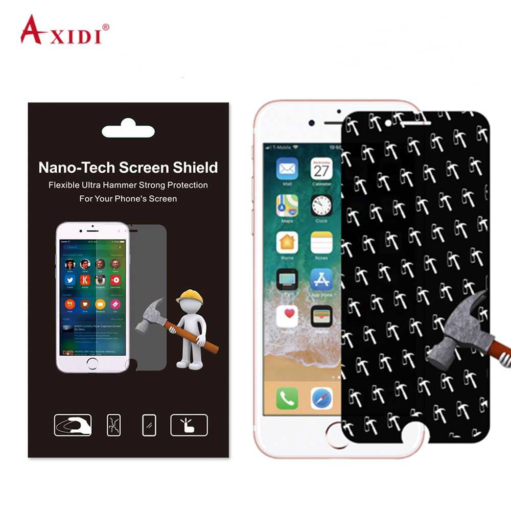 NANOSHIELD Delicate Touch Bendable Shatter Proof Hammer Nano Anti Shock Film for iPhone 6 7 8 Plus Screen Protector