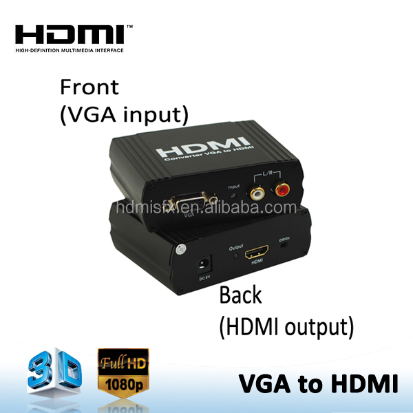 <strong>1080P</strong> VGA to HDMI Converter for Transmitting Video with Audio from PC TO TV