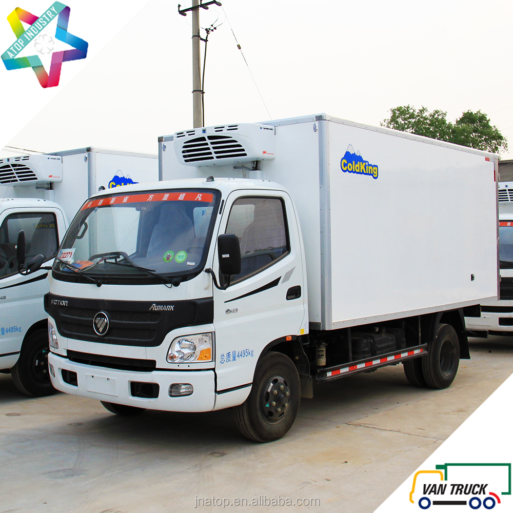 Foton Aumark 4.3m reefer truck body 1.1T - 4.6T refrigerated trucks light duty refrigerator box truck