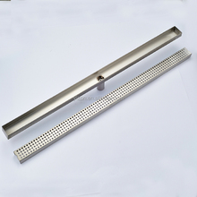 Wholesale And Retail Bathroom Floor Drain Polished Chrome Stainless Steel Floor Drain Long Square Bathroom Drainer Grate <strong>Waste</strong>