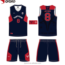 China custom design cheap sublimation basketball uniform