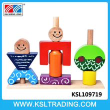 Hot selling sun and moon blocks baby wooden educational toys
