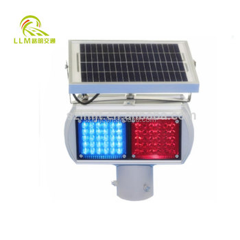 Road safety double side double sets mini solar LED strobe light