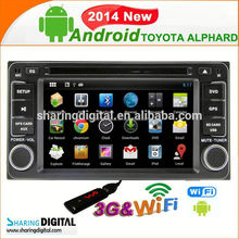 TYT-7930GDA support 8 live wallpapers car gps navigation for Toyota HILUX