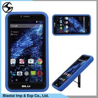 Custom shockproof heavy duty kickstand robot silicone pc cover celular blu cell phone for blu studio one with low price
