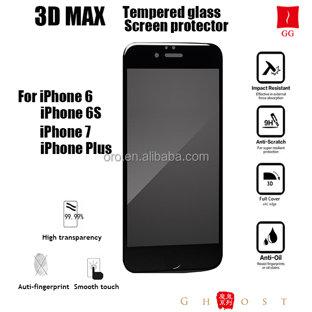 Holographic 3D tempered glass screen protector