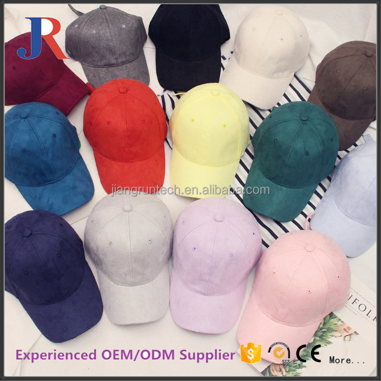 christy manufacture high quality blank custom 6 panel suede baseball cap