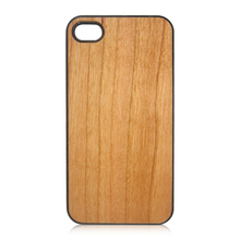 Cheap wood case for iPhone 4S, beauty cell phone shell single PC bottom wooden cover