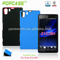 custom rubber case for sony xperia z1 l39h