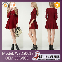 Western sexy red short party wear dresses patterns