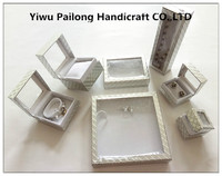 PVC window paper jewelry gift box with ribbon made in china