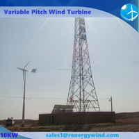 Home solar wind energy system generate electricity for remote ares use